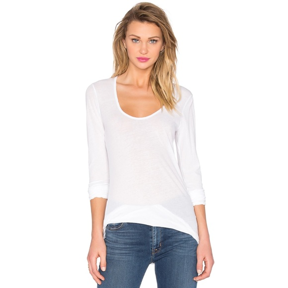 49cc4c6227b5 James Perse Tops | Long Sleeve Scoop Neck Tee | Poshmark
